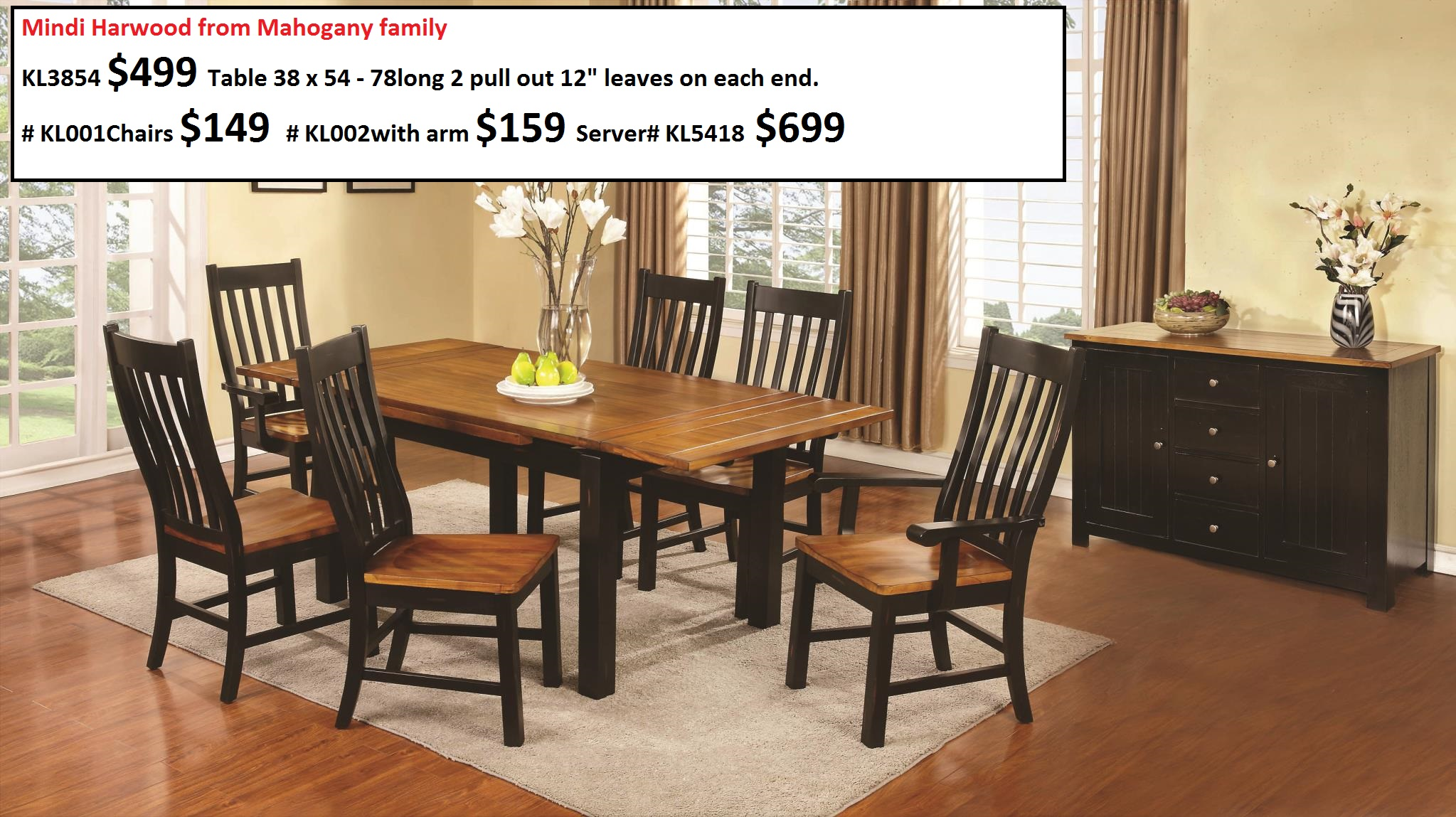 Kitchen and dining room furniture 28 images kitchen for Dining room tables home depot