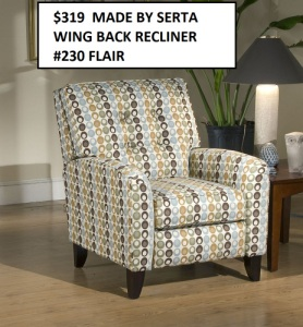 Recliners, Gliders, Accent Chairs, Klick Klacks, Futons